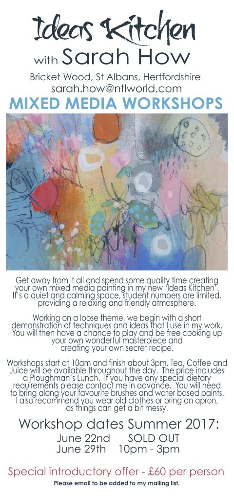 Mixed Media Workshops 2017