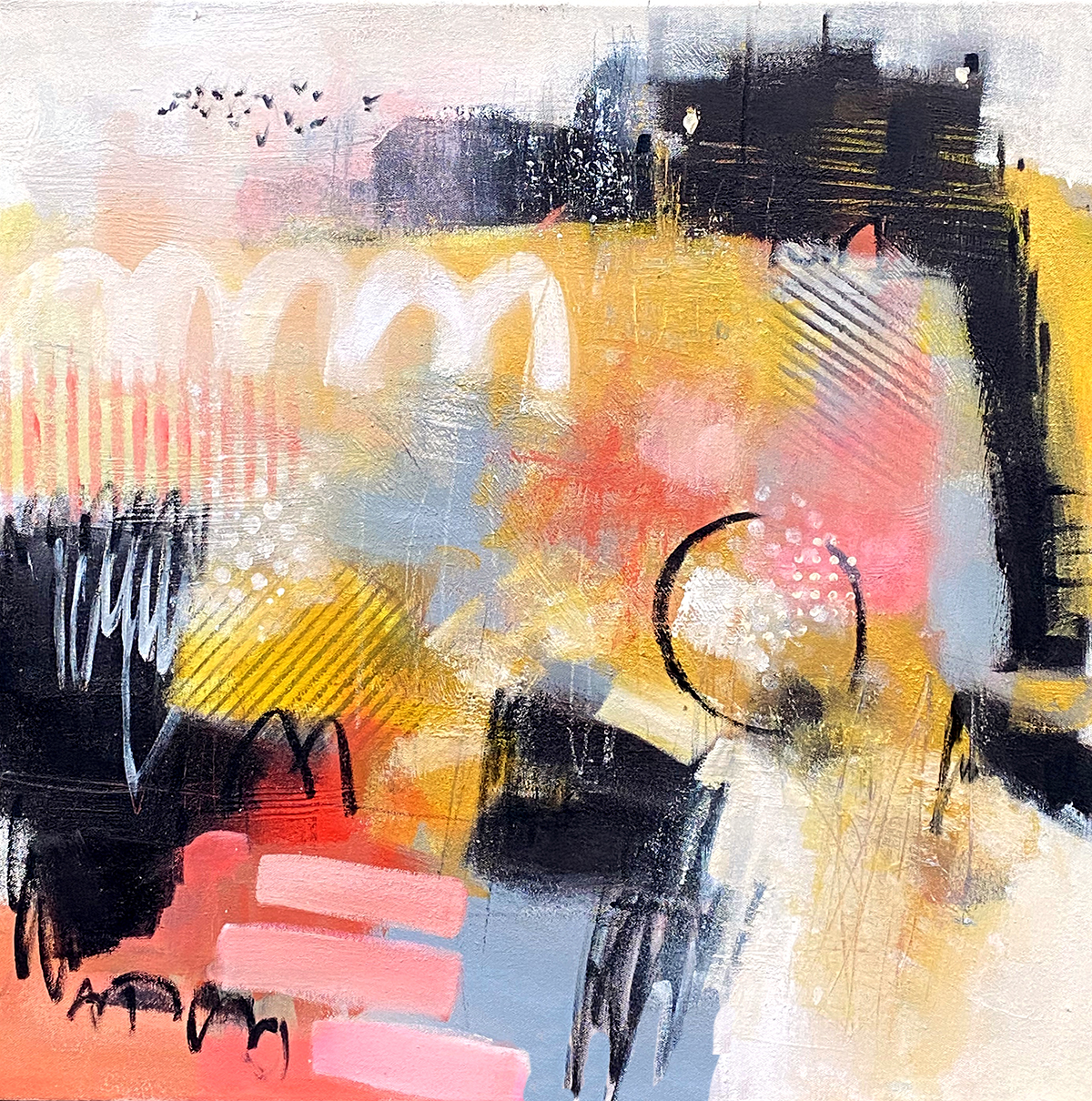 mixed Media Painting on Canvas